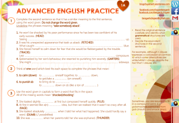 ADVANCED ENGLISH PRACTICE 1A